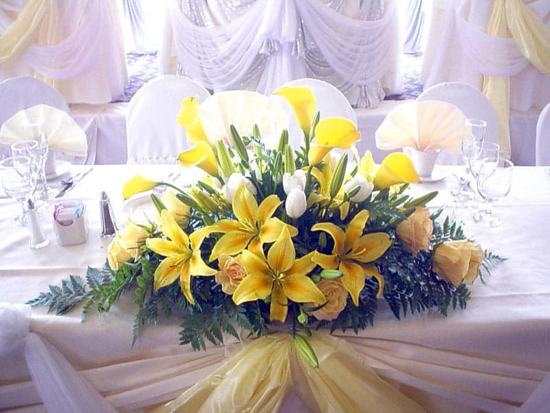 wedding yellow decor
