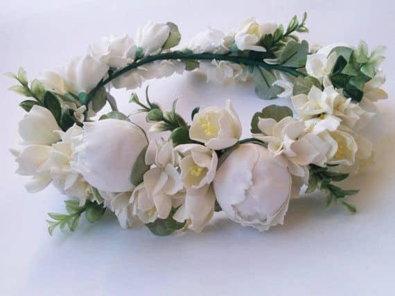 freesia flower crown