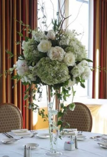 wedding flower centrepiece
