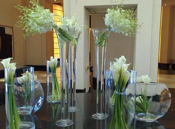 Modern flower arrangement for office