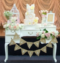 French vintage table hire