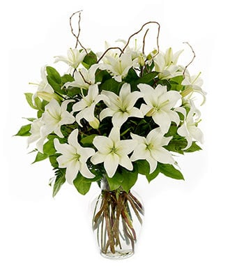 Bunch of white lilies