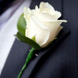 mens buttonhole flower