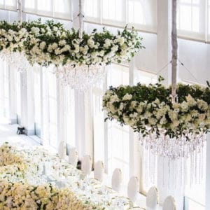 floral ceiling decor