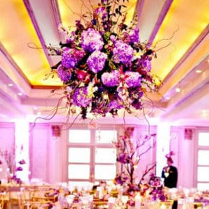 ceiling flower arrangements