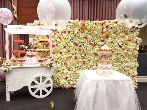 Candy cart for christening