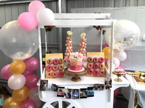 Here is how Emily dressed up our candy cart for her daughter Maya's 6th birthday - every child's dream!