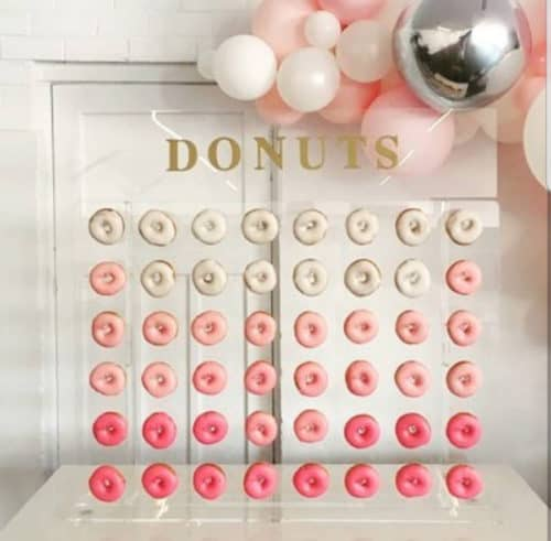 Small see through donut wall