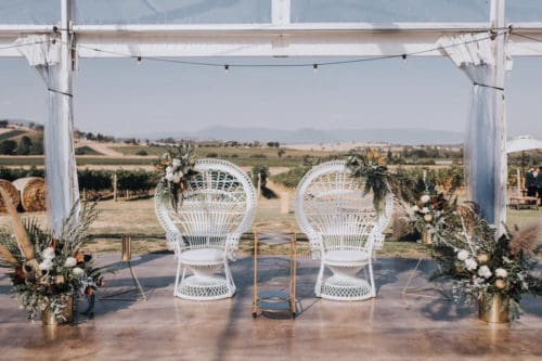 French chairs outdoors at a wedding