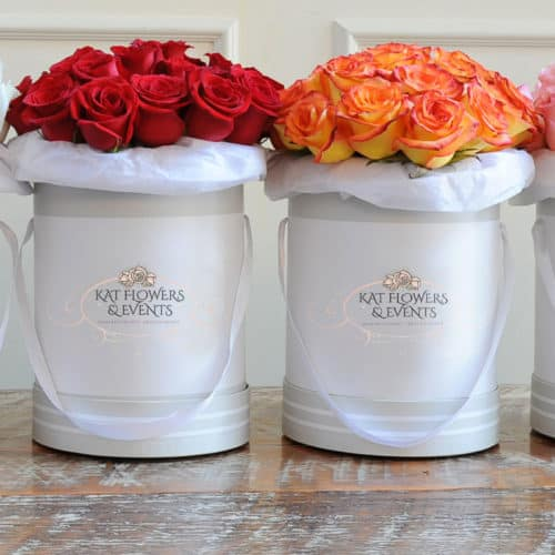 branded rose flower boxes